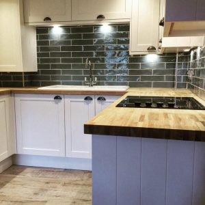 Property Improve Kitchen Designers kitchen with wooden worktop