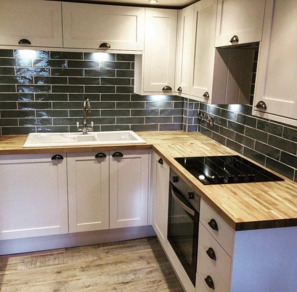 Property Improve Kitchen Designers kitchen with wooden worktop