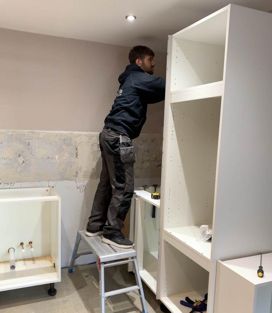 Property Improve Kitchen Designers new, modern kitchen in progress