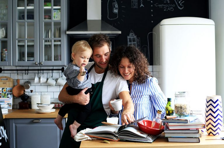 Property Improve Kitchen Designers Edinburgh Family Cooking in the Kitchen